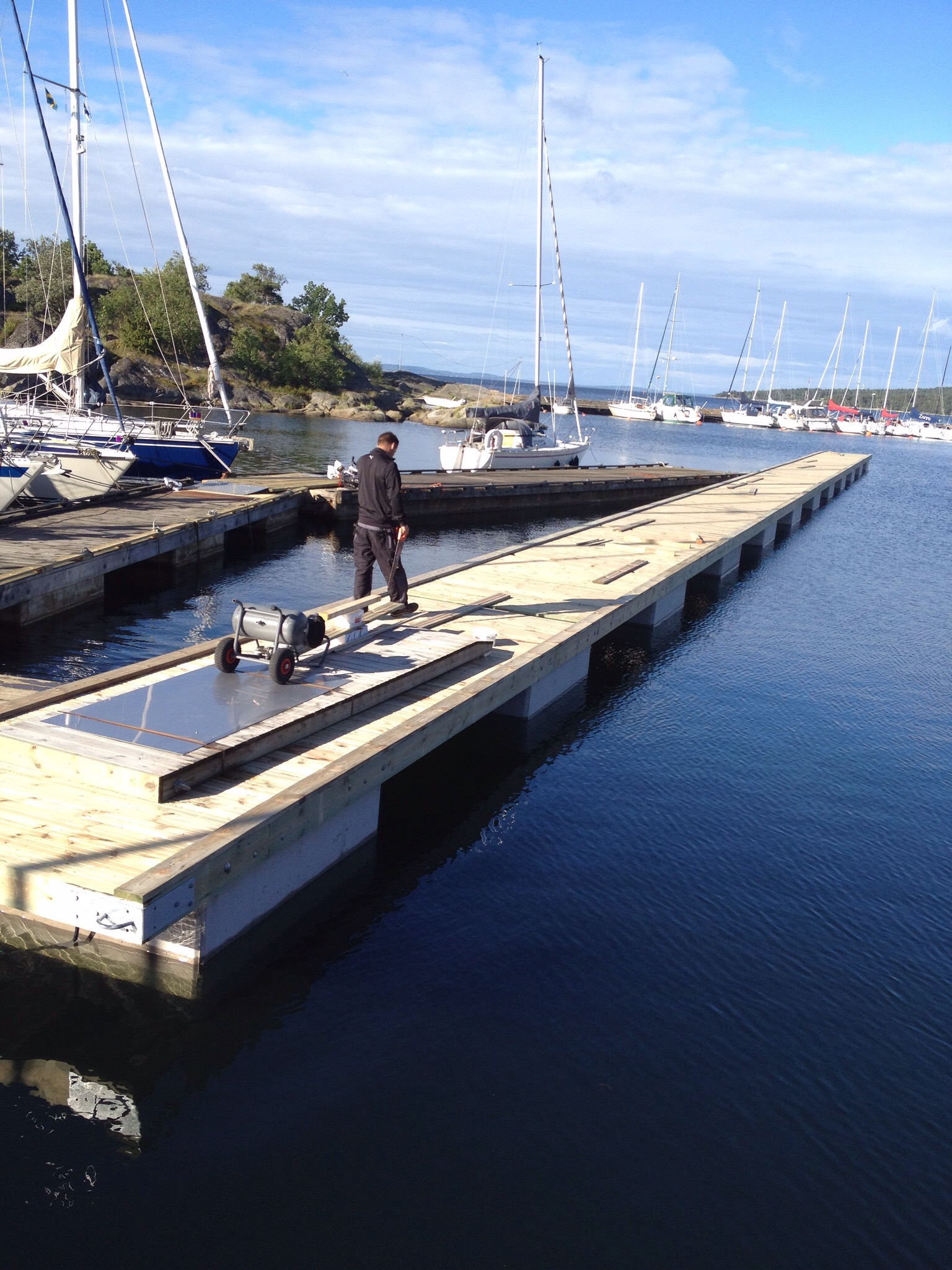 Bryggor-Båtbrygga bygge